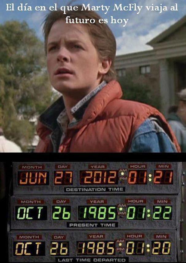 Hoy no es el día que Martin McFly regresó al futuro